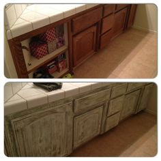 Painted Bathroom Cabinets Before And After my kitchen cabinet project completed. i used chalk paint that i