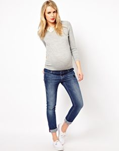 lace collar maternity sweater.