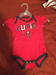 01276160c Tampa Bay Buccaneers Infant Girl s One Piece Outfit. Size 0-3 Months. NWOT   NFLTeamApparel  TampaBayBuccaneers
