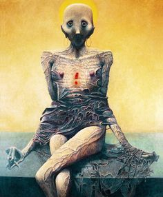 Las pesadillas de Zdzisław Beksiński - Dibujos
