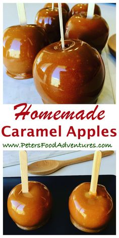 Caramel Apples are a family autumn favorite, perfect for halloween and parties. An easy fall classic the whole family will love - Kraft Caramel Apples Carmel Apple Recipe, Gourmet Caramel Apples, Caramel Recipes, Candy Recipes, Candy Apples Recipe, Desserts Caramel, Raspberry Desserts, Fruit Recipes, Snack Recipes