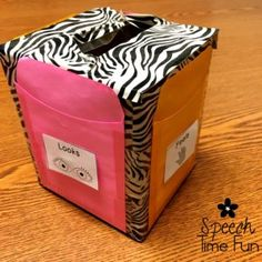 Low Prep Speech Therapy Ideas To Use An Empty Tissue Box - Speech Time Fun