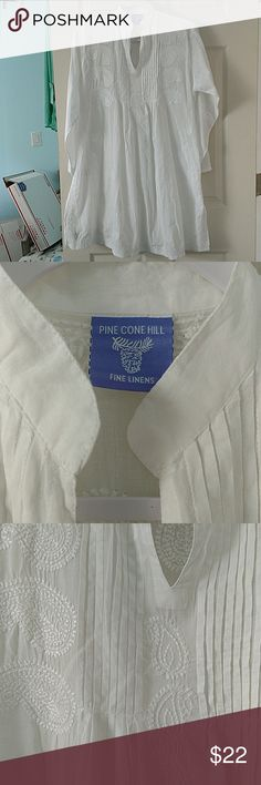 Pine Cone Hill fine Linens nightgown Just lovely cotton nightgown with much adornment perfect condition Pine Cone Hill Intimates & Sleepwear