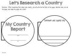 FREE Writing ideas and printables - My country report, can also be used with Christmas around the World unit.