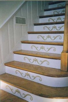 Marvelous Revamp Staircase Design With Easy Stencil Decoration Patterns And .