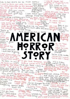 American Horror Story...an excellently disturbing show :)