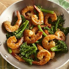 Quick and tasty -- just 30 minutes needed to make this shrimp stir fry.