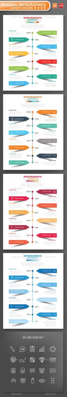 Minimal Timeline infographic Design Template Vector EPS, AI Illustrator. Download here: https://graphicriver.net/item/minimal-timeline-infographic-design/17067098?ref=ksioks