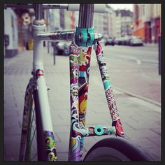 #velo, #art, #streetart, #pista, #fixie, #fahrradladen, #myownbike, #fixedgear, #duesseldorf, #vintage, #düsseldorf, #fixieporn, #retro, #singlespeed, #fixed, #fixielove, #fahrrad