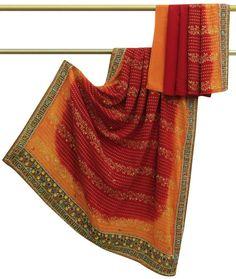 Vintage Sari Sarong Indian Cotton Saree Fabric Printed Work Traditional Clothing Sarong Wrap Craft Decor Women Home Dress Sari 5yd