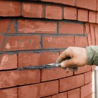 A guide to painting brick siding on your home. Considerations, and a general how… A guide to painting brick siding on your home. Considerations, and. Mortar Repair, Brick Repair, Brick And Mortar, Brick And Stone, Faux Brick, Exposed Brick, Brick Face, Brick Siding, House Siding