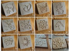 Cookies stamps (Set) or molder ( 5 pieces / 10 design) with recipe