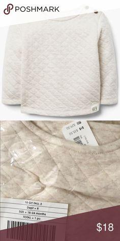 f6b6275259b NWT Gymboree Ivory Quilted Sweatshirt 18-24mo NWT Gymboree Ivory Quilted  Sweatshirt 18-24mo