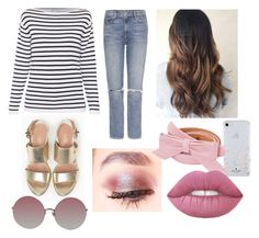 """Charli"" by process-red on Polyvore featuring Max&Co., GRLFRND, Kate Spade, Lime Crime, Louis Vuitton and Linda Farrow"
