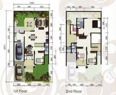 denah rumah minimalis type 70 1 lantai minimalist house