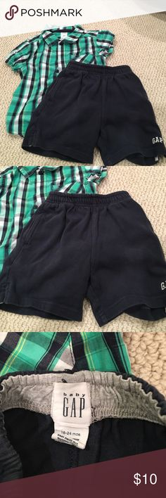 24 month set caters and gap Top carters and short gap EUC no stains or holes both 24 months Gap Matching Sets