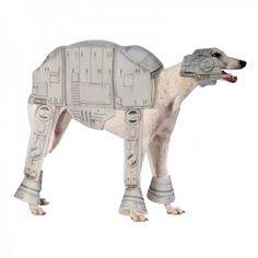 Canine cosplay for the dog who's always wanted to be an AT-AT.