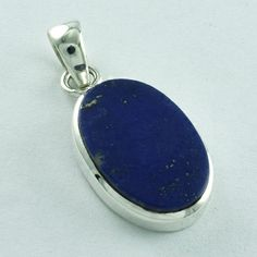 92.5 SOLID STERLING SILVER LAPIS LAZULI STONE NEW PENDANT #SilvexImagesIndiaPvtLtd #Pendant