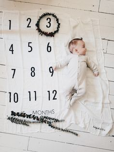 SHIPPING TIME ONLY 1-3 BUSINESS DAYS!! BATZkids Circle-Months Milestone Blanket™ is made with cotton muslin swaddling material. It has a cute circle/clock desig
