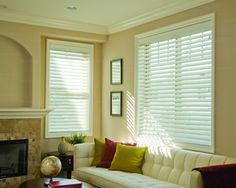 Clean, White window blinds. Available in other colors. Order at 3stepblinds.com now!  #windowcoverings #windowblinds #windowtreatments