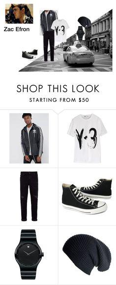 """outfit 3"" by mazzagliadavide on Polyvore featuring adidas Originals, Y-3, Topman, Converse, Movado, Black, men's fashion e menswear"