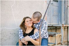 Jonathan & Amy's Rustic Engagement Session in Downtown Frisco, TX
