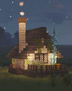 Minecraft Mansion, Minecraft Cottage, Cute Minecraft Houses, Minecraft Plans, Amazing Minecraft, Minecraft Blueprints, Minecraft Crafts, Minecraft Stuff, Minecraft House Tutorials