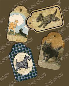 Vintage Scottie Dog Tags - Scottish Terriers