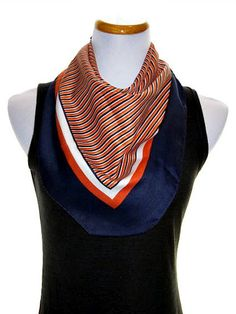 Head Scarf Vintage Scarf  Square Scarves by PrettyVintageScarves, $13.50