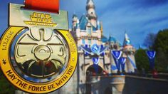 Happy #MedalMonday! AKA yet another excuse to post yet another pic of my #StarWarsHalf medal from #Disneyland!   That #Instagram update? Turn on #notifications if you like don't if you don't. It probably won't be as bad as we fear but if you dig my posts see if I still pop into your feed and if not do what you must to remedy that! #KeepInstagramChronological #InstagramUpdate #PostNotifications #DisneylandResort #DLR #runDisney #StarWars10k #StarWars #SleepingBeauty #SleepingBeautyCastle…