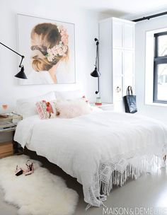 Generous Tips Home Interior Pictures New floor-to-ceiling built-ins maximize storage without detracting from the bedrooms serene mood. Bedroom Frames, Bedroom Nook, Bedroom Inspo, Parisian Bedroom, White Bedroom, Condo, Fireplace Remodel, Indian Home Decor, Design Moderne