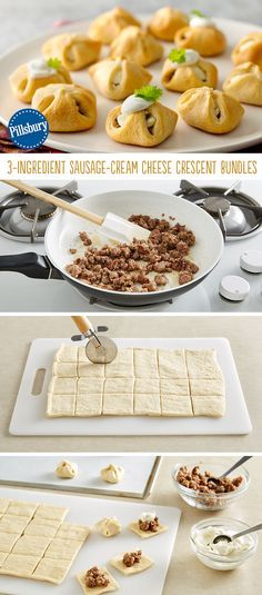 Imagine the best appetizer ever – this is it! These 3-Ingredient Sausage-Cream Cheese Crescent Bundles are a delicious one-bite packed with flavor. You can prepare them to any party or game day event -- all your guests will love 'em!