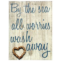 Wooden By The Sea Plaque   Dunelm