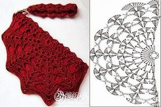 image - Her Crochet Crochet Wrap Pattern, Crochet Diagram, Crochet Stitches Patterns, Crochet Chart, Knit Crochet, Crochet Clutch, Crochet Handbags, Crochet Purses, Mode Du Bikini