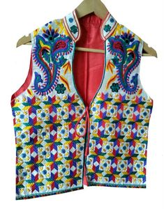 Red Phulkari Jacket  http://www.curiotown.com/Women-Apparel/Jackets/red-phulkari-jacket  This Designer Phulkari Jackets accumulation is loaded with the Phulkari Jackets which are exactly intended for all sharp and popular ladies who needs to be recognized in the swarm. These Phulkari coat is aesthetically designed with embroidery work.   Price : 1800/- Product Code:CT/RO/13  Available: @www.curiotown.com