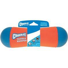 Petmate 184201 Medium Orange/Blue Chuckit! Tumble Bumper, Multicolor