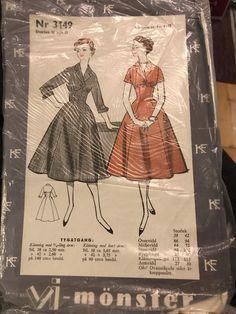 Tradera ᐈ Köp & sälj begagnat & second hand Swedish Sewing, Vintage Sewing Patterns, Auction