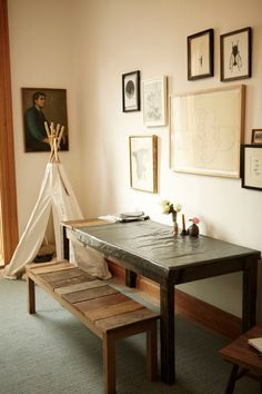 A pet teepee. Genius!     Kate Young Interview, Photos, And Home Tour