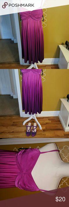 Bisou Bisou Pink/Purple spaghetti strapped dress Pink and purple spaghetti strapped dress Bisou Bisou Dresses Midi