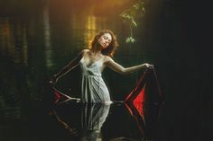 """""""Nothing real can be threatened. Nothing unreal exists. Herein lies the peace of God."""" - A Course In Miracles (TJ Drysdale Photography — with Kristen Felicia Mirabal - Kiki and Terrence J. Drysdale at Hillsborough River State Park) Water Photography, Photography Portfolio, Portrait Photography, Debut Photoshoot, Photoshoot Ideas, Modeling Fotografie, Water Shoot, Girl In Water, Shooting Photo"""