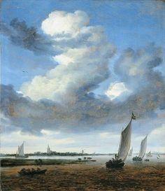 Salomon van Ruysdael, View of Beverwijk from the Wijkermeer, c. 1661