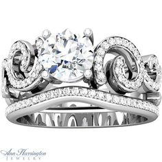 6 ct antique style engagement wedding ring | Gold 1/4 ct tw Diamond Antique Style Engagement Ring, 6.5 mm (for 1 ct ...