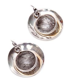 Brown Stone #Embellished #Sterling #Silver #Earrings