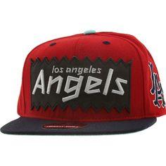BAIT x MLB x American Needle Los Angeles Angels Retro Snapback Cap (red    navy dbfdf0aa7761