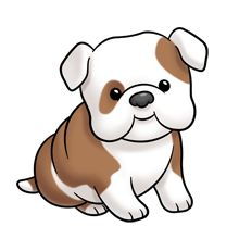 Cute english bulldog cartoon - photo#1