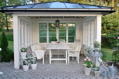 Bilderesultat for paviljong Gazebo, Patio Pergola, Backyard Patio, Outdoor Rooms, Outdoor Gardens, Outdoor Living, Outdoor Furniture Sets, Outdoor Decor, Cottage Garden Plan