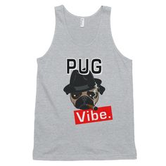 This unisex tank-top boasts a nice drape, which is ideal for layering or dealing with the summer heat. In true American Apparel style, the tank-top is extremely American Apparel Style, Tanks, Tank Tops, Cool T Shirts, Pugs, Dog Lovers, Cute Animals, Inspirational, Puppies
