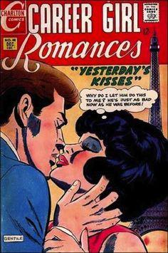 Vintage Romance Illustrations - 1960s Career Girl Romances Magazine Cover