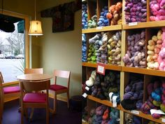 Sipperie and Yarn Shelves