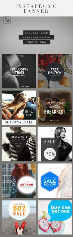 Instagram Promo Banner - Social Media Web Elements                                                                                                                                                                                 More